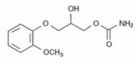 Molecular structure of methocarbamol